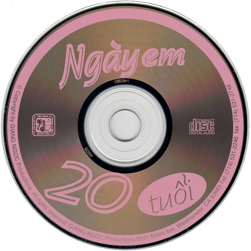Giáng Ngọc CD - Thiên Trang - Ngày Em 20 Tuổi (NRG) + bìa scan mới