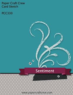 Paper Craft Crew Card Sketch Challenge #PCC330 from Mitosu Crafts