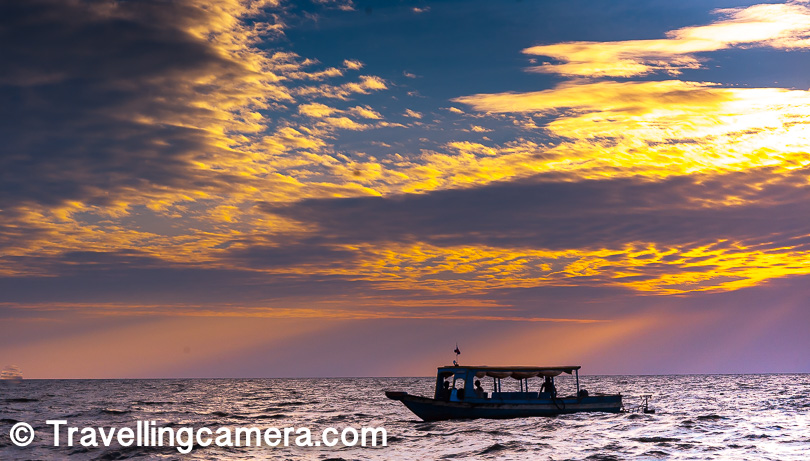 While in Cambodia, I had the good fortune of watching the sunset twice, and both the times I happened to be at a lake. I saw the first sunset at the Yeaklaom Lake near Ban Lung. The second sunset was at the Tonle Sap Lake.