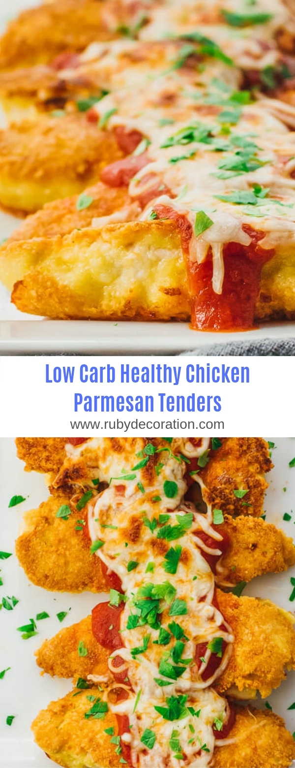 Low Carb Healthy Chicken Parmesan Tenders