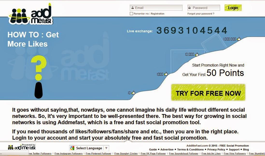 Cara Memperbanyak Followers Twitter, Intagram, Google Plus Dan Lain-Lain Di Addmefast