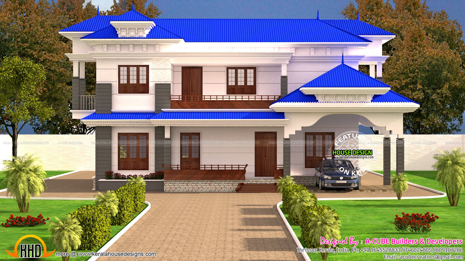 Kerala typical home design in 2121 sq ft kerala home for Typical house design