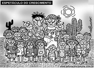 Resultado de imagem para brasil demográfico charge