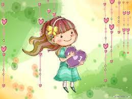 Gambar kartun girl falling in love