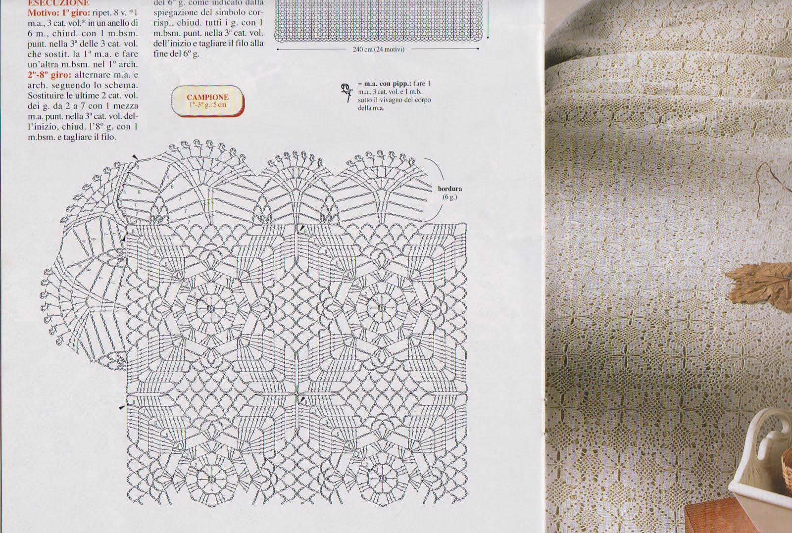 La bottega delle meraviglie di gabry schemi per copriletto for Tovaglie all uncinetto