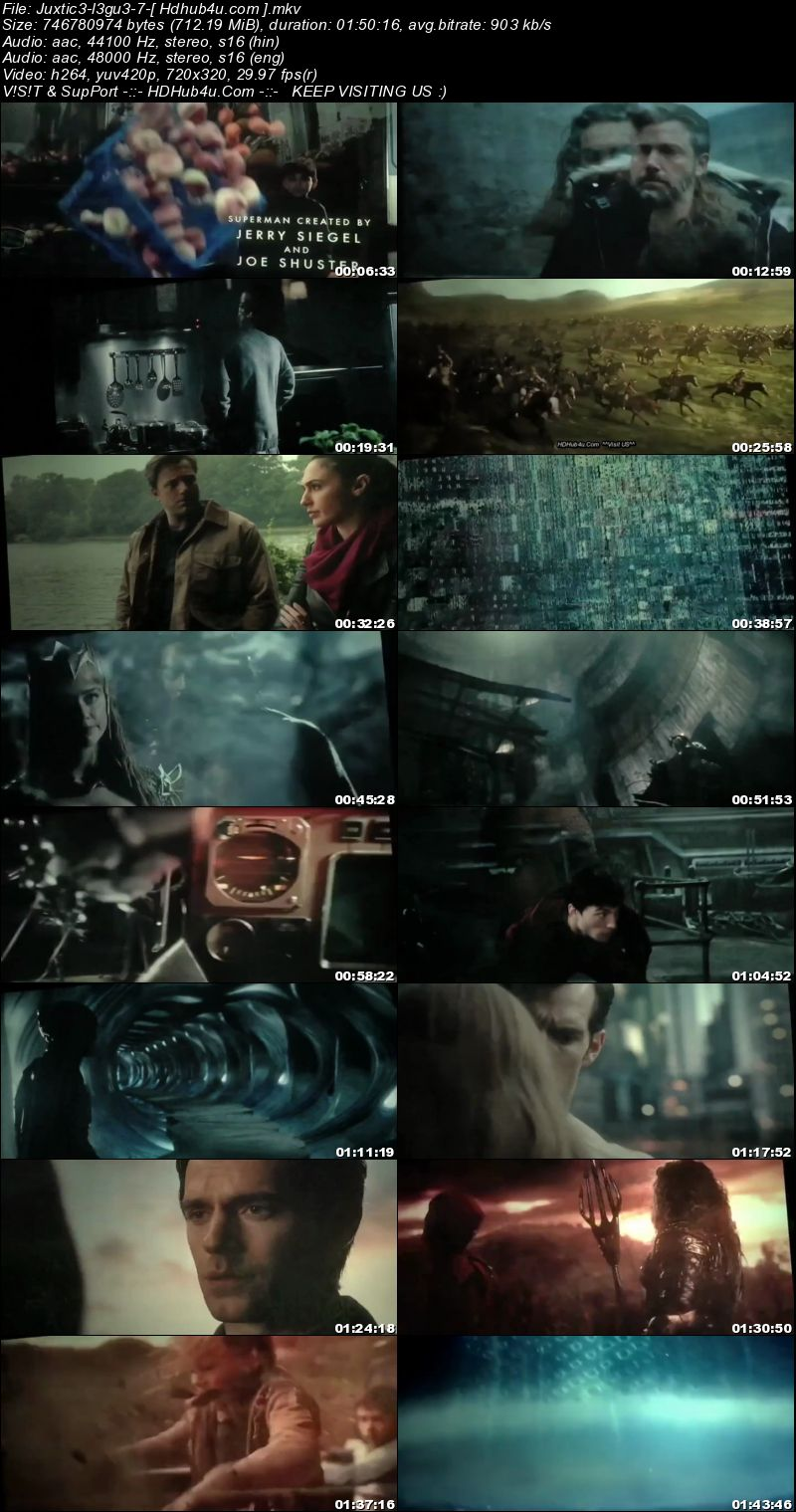 Justice League 2017 Hindi Dual Audio HDTS 700MB Download