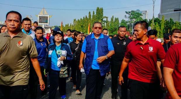 SBY di Car Free Day Pekanbaru