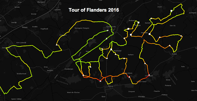 Tour of Flanders route map 2016