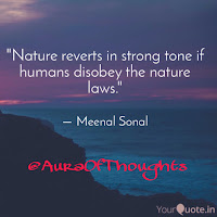 Aura of thoughts - Nature and its laws