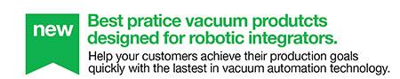 Piab vacuum products designed for robotic integrators