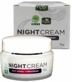 Night Cream HNI HPAI Mencerahkan dan Meremajakan Kulit