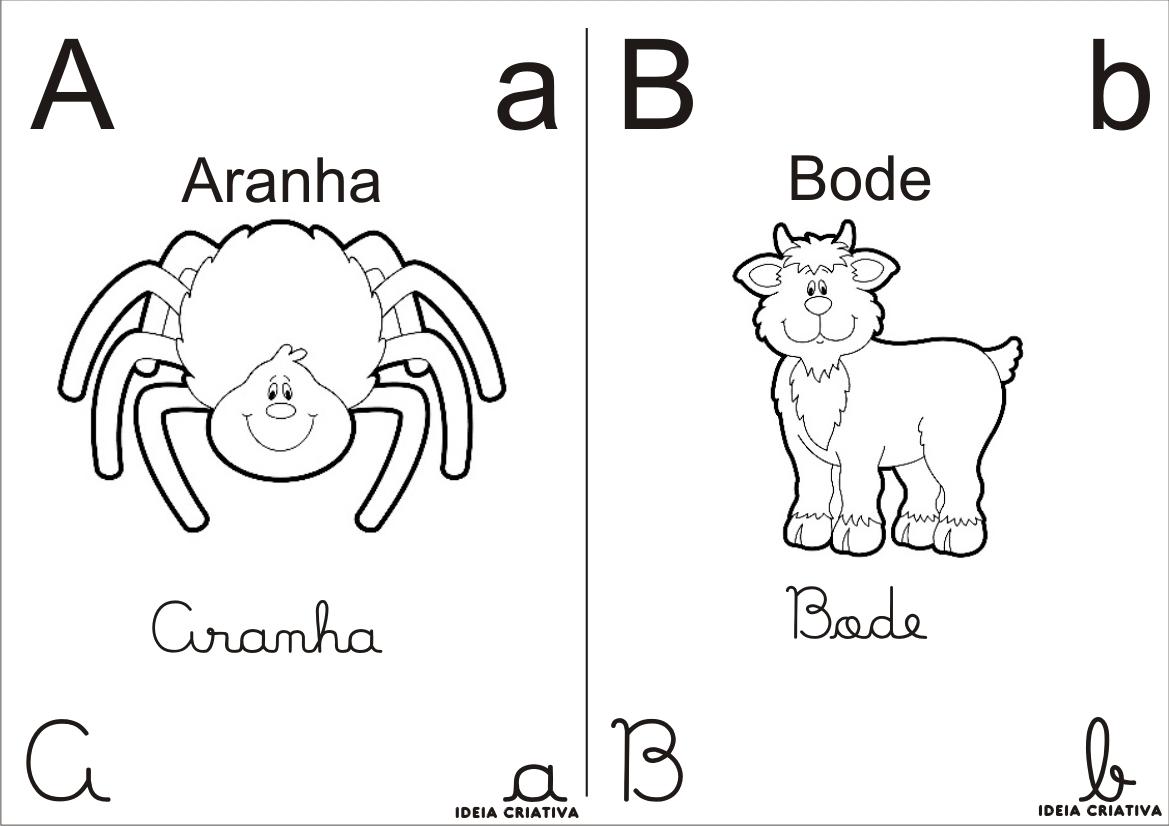 Blog Professor Zezinho Alfabeto Para Colorir 4 Tipos De Letras