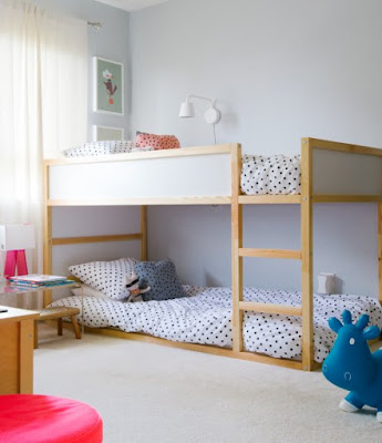 Modern kids bedrooms in blue