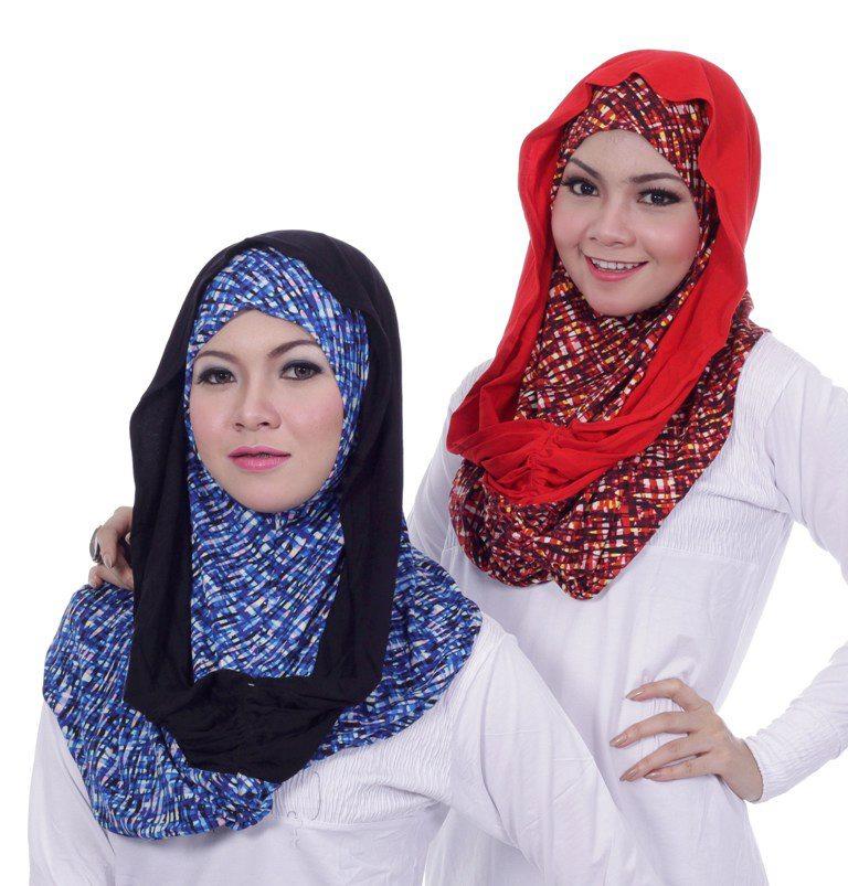 Tutorial Pakai Hijab Viola Merah Biru Terbaru