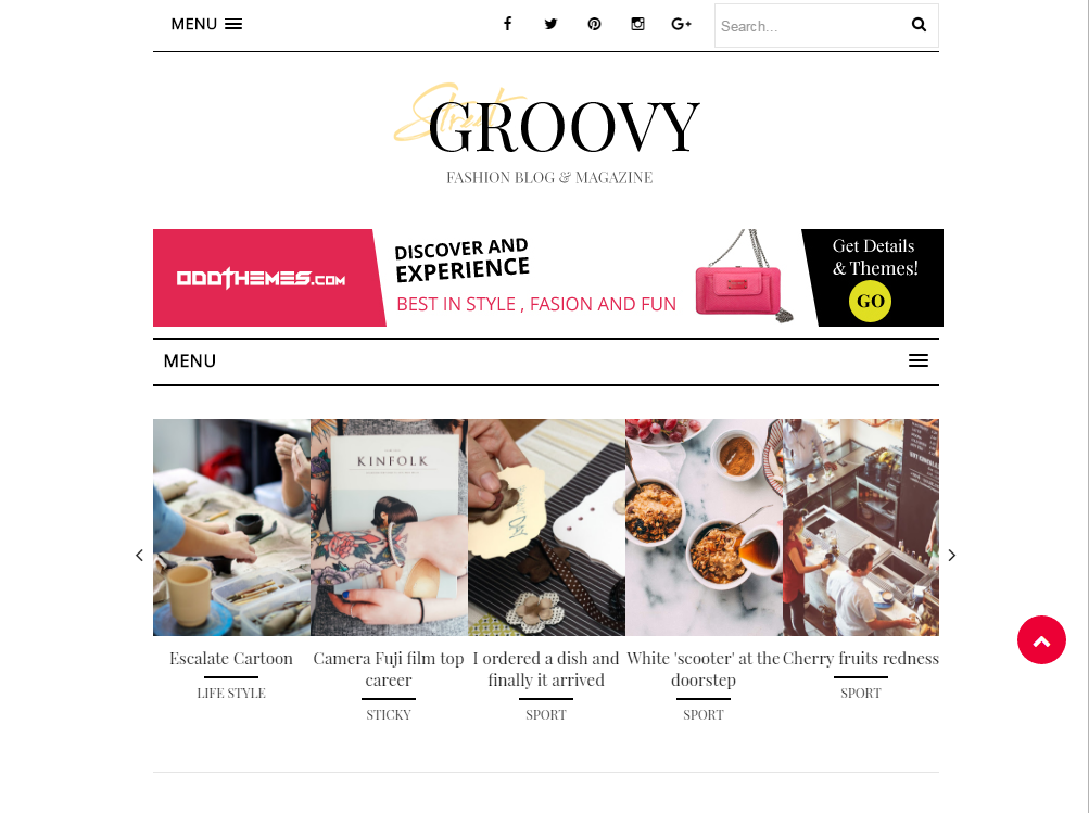 Groovy Responsive Blogger Template