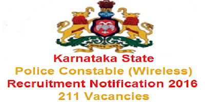 Karnataka PCs wireless Recruitment 2016