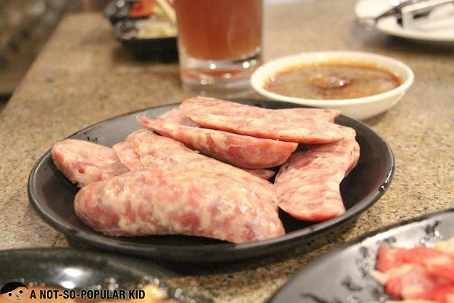 Grilled Sausage in Tajimaya, Japanese Grilling