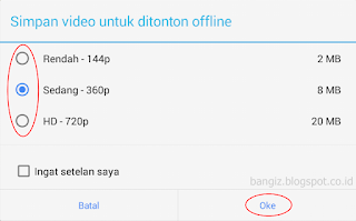 kualitas video offline
