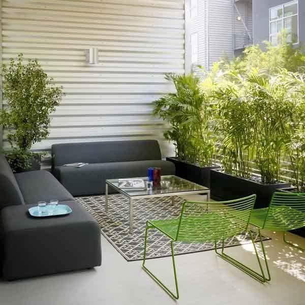 Taman Rumah Minimalis sebagai ruang tamu santai