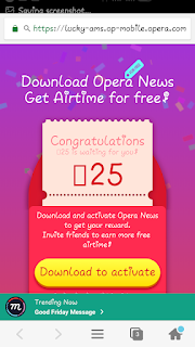 Get unlimited Airtime From Opera News - Trending news and videos app(Tweak Revealed)