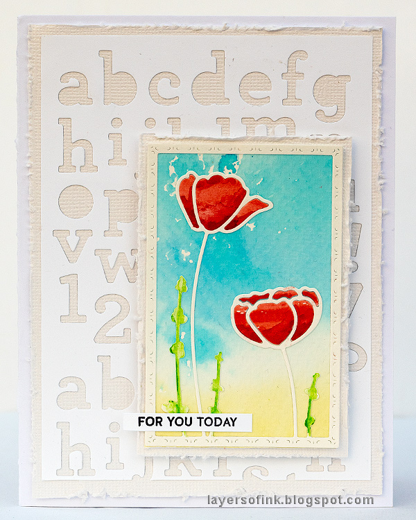 Layers of ink - Poppy Card Tutorial by Anna-Karin Evaldsson. With SSS Blossoms and Butterflies.