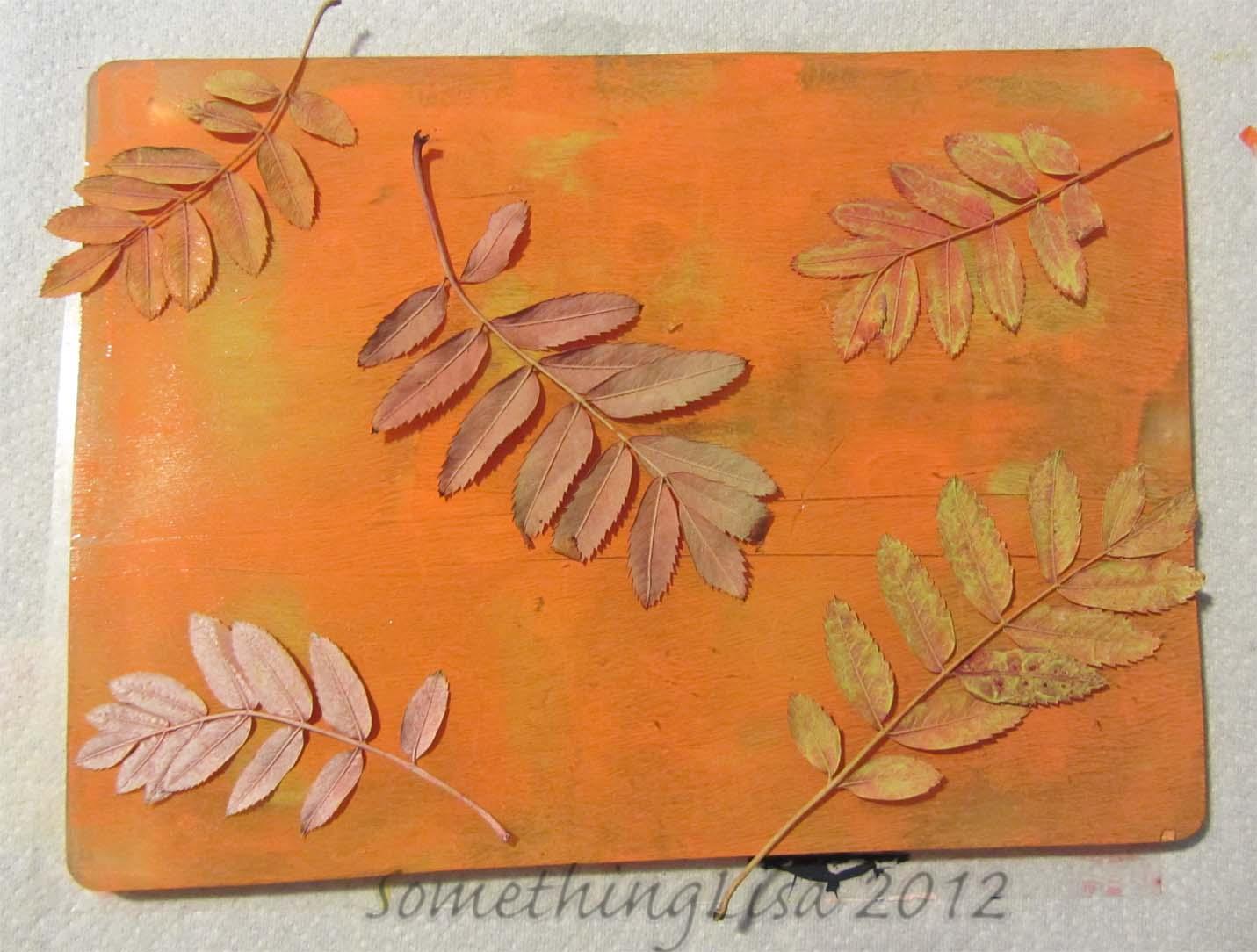 Gelli Plate Tutorial with Leaves