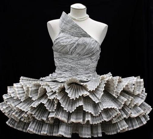 Baju Baju Cantik Yang Dibuat Dari Koran Bekas Kerajinan Keren
