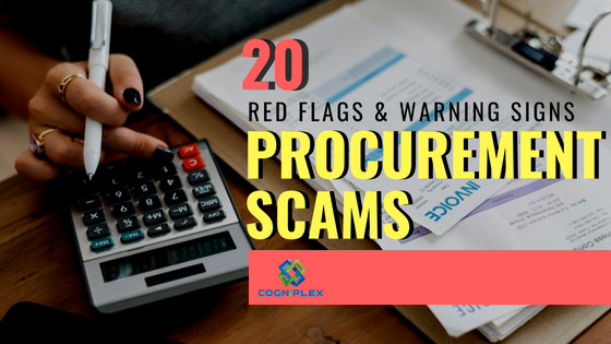 Procurement Scams - Red Flags and  Warning signs