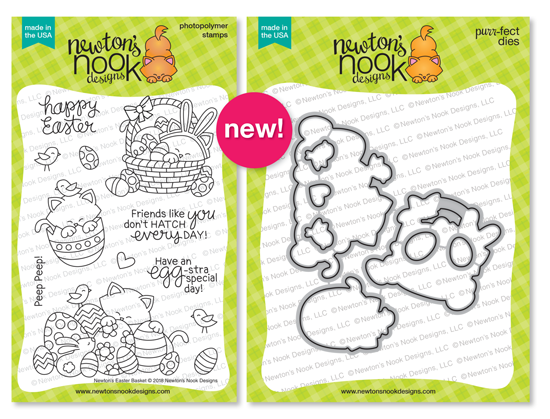 Newton's Easter Basket Stamp set and coordinating Die Set | Newton's Nook Designs