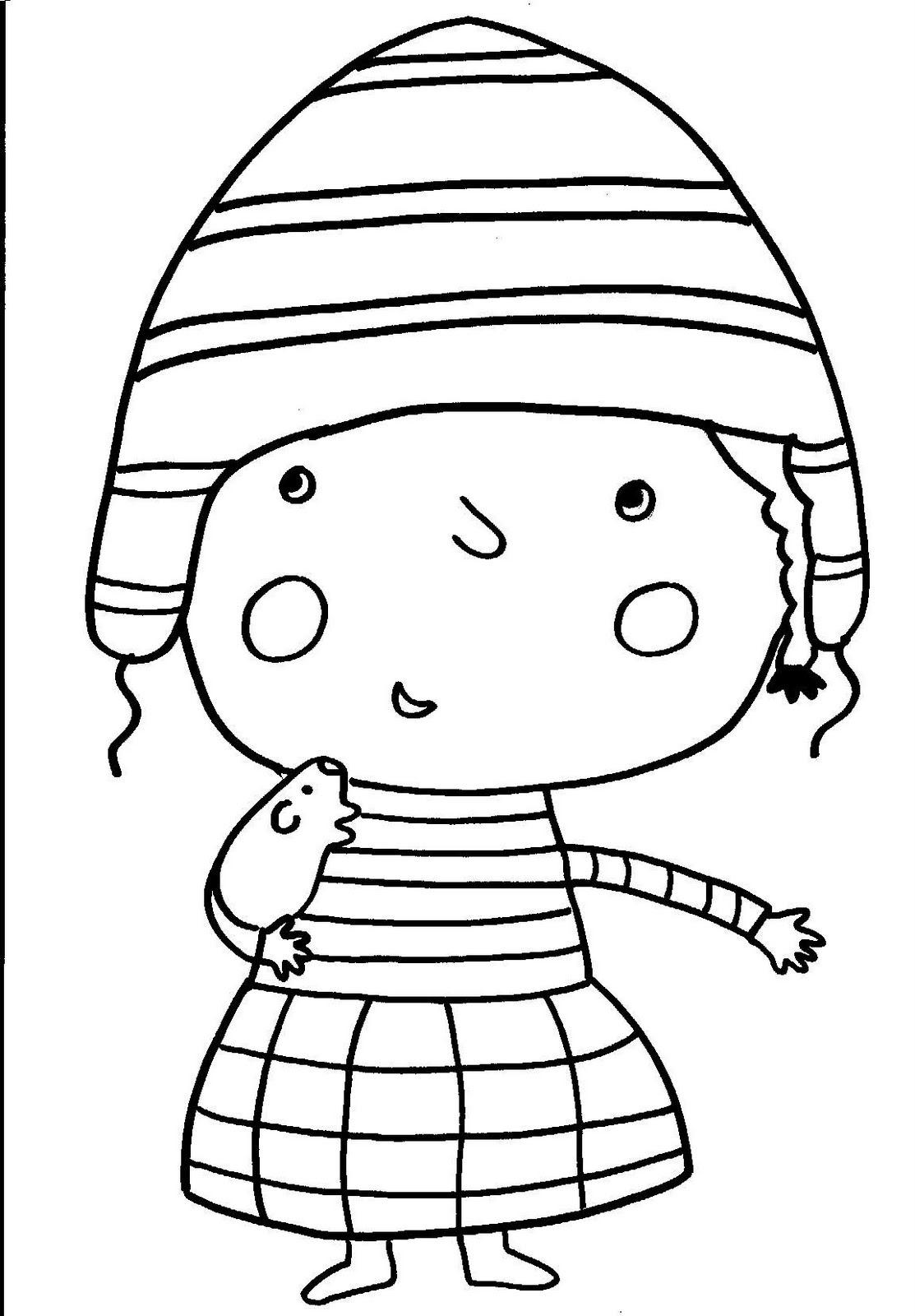 Dibujos Para Colorear Perú Niños Peruanos