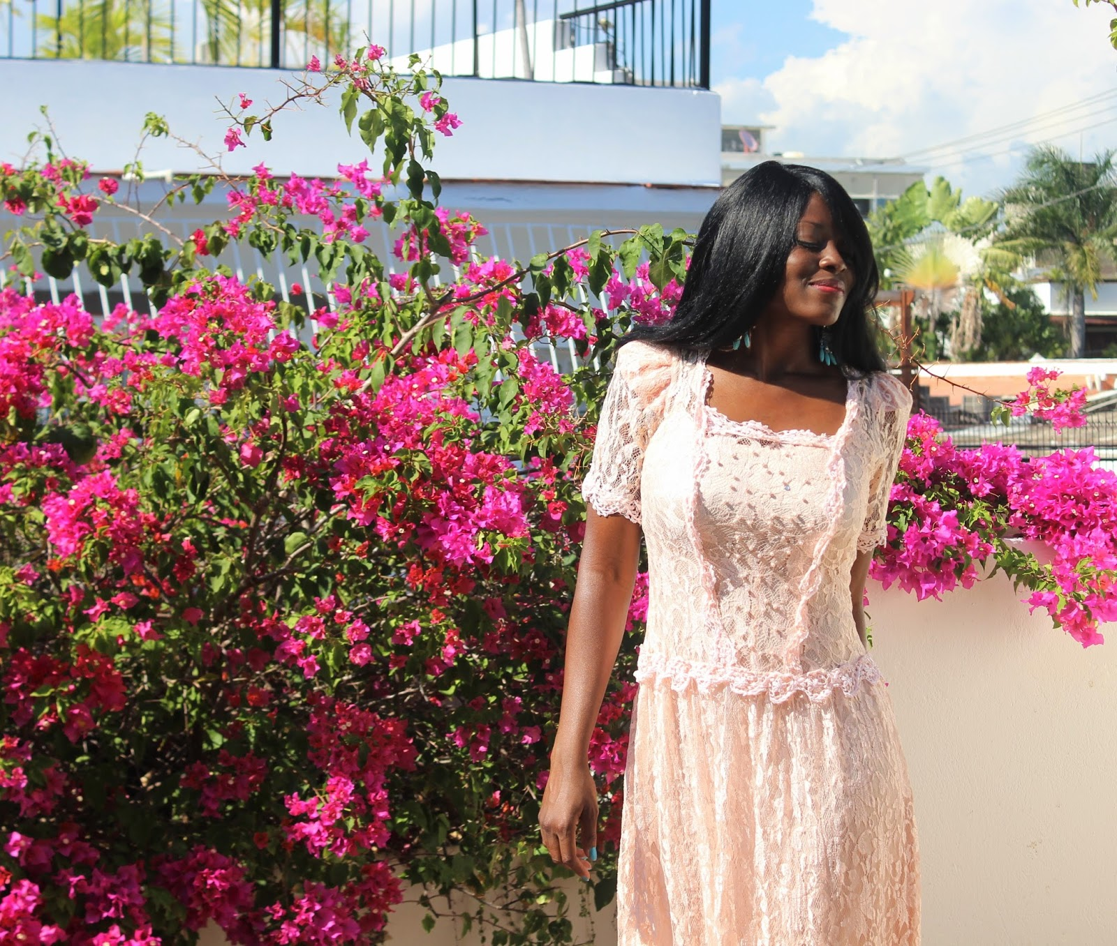 Styling A Full Lace Dress For Spring