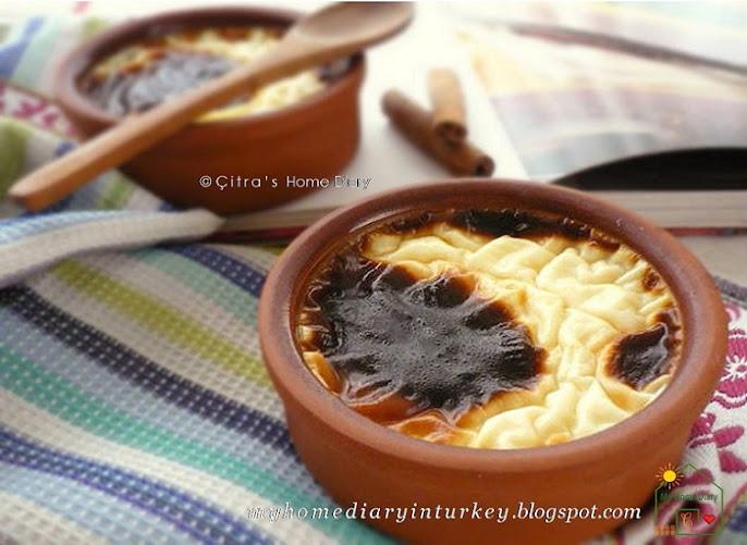 Damla Sakızlı Fırın Sütlaç (Turkish Rice Pudding with mastic gum). #turkishcuisine #ricepudding #dessert #tatlı #bakericepudding #sütlaç #fırınsütlaç  #sweetporidge #turkishcuisine #ricepudding #dessert #tatlı #fırınsütlaç #turkishdessert #turkishfoodrecipe #masticgum #puddingberaskhasturki #resepmasakanturki