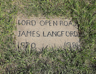 Headstone in Britt, Iowa