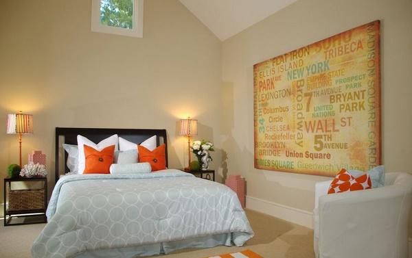 kami akan memperlihatkan salah satu desain yang unik Inspirasi Desain Kamar Tidur Bertema Warna Orange