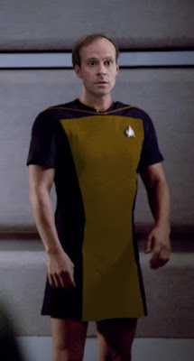 Broccoli wearing TNG skant uniform