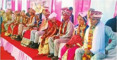 सामूहिक विवाह सम्मेलन में 22 जोड़े परिणय सूत्र में बंधे