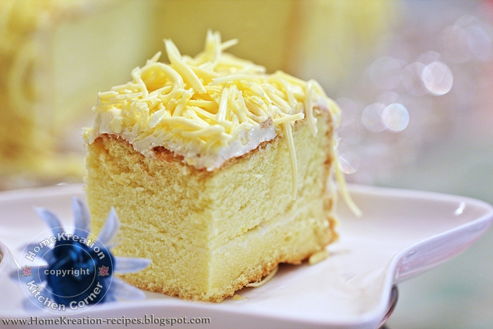 HomeKreation - Kitchen Corner: Snow Cheesecake (Kek Cheese Bersalji)