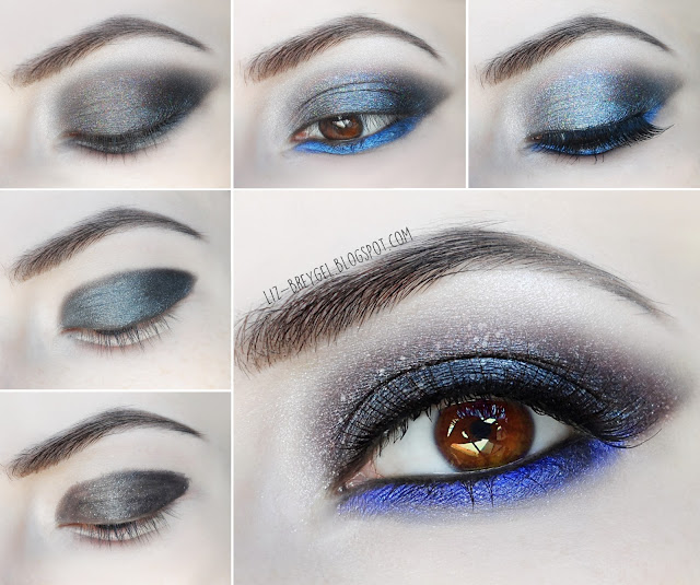 liz breygel beauty blogger step by step makeup tutorial grunge gothic metallic smoky eye