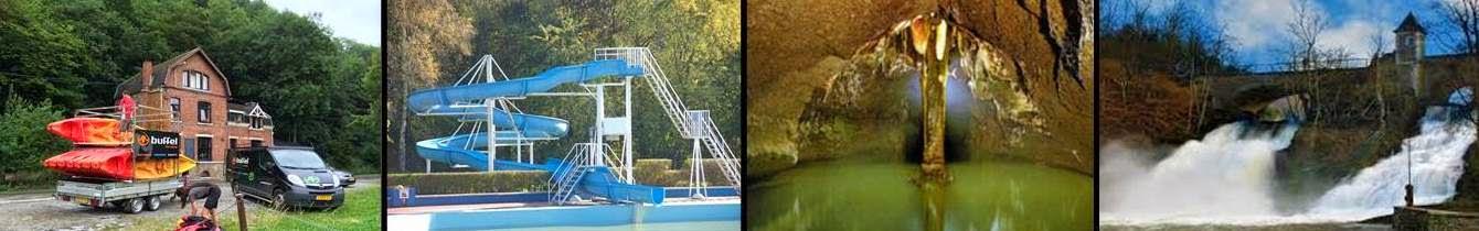 Kanoen met Buffel Outdoor, zwembad, Remouchamps en Coo