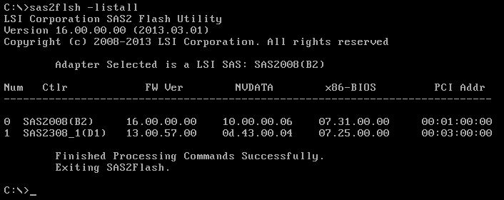 Just Another Geek's Blog: Flashing IT firmware on a LSI 9211-8i HBA