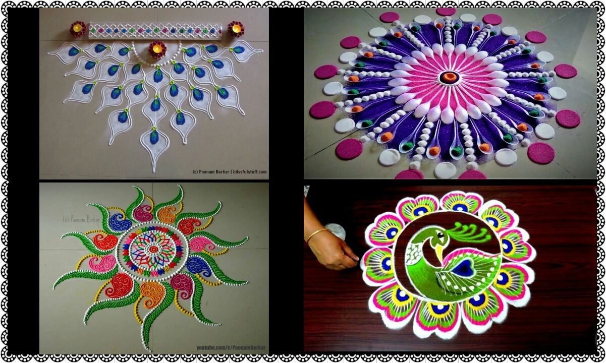 Easy And Innovative Rangoli Designs Crazzy Crafting