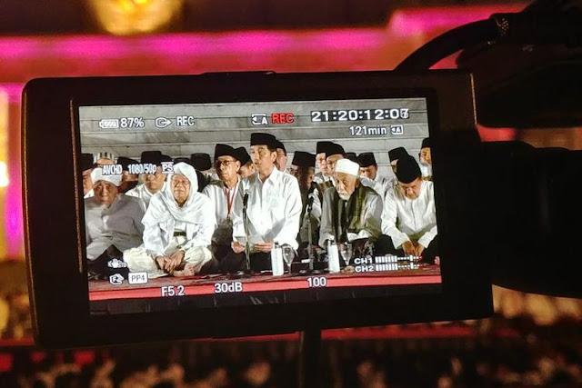 Rezim Jokowi Cinta Ulama dan Islam, Baru Kali Ini Ada Acara DZikir di Istana