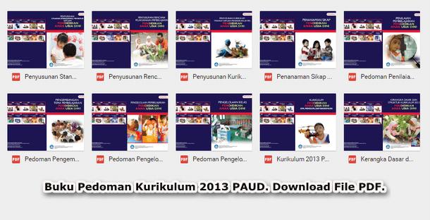 Buku Pedoman Kurikulum 2013 PAUD Lengkap Format PDF