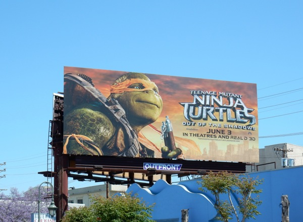 Teenage Mutant Ninja Turtles Shadows Michelangelo billboard