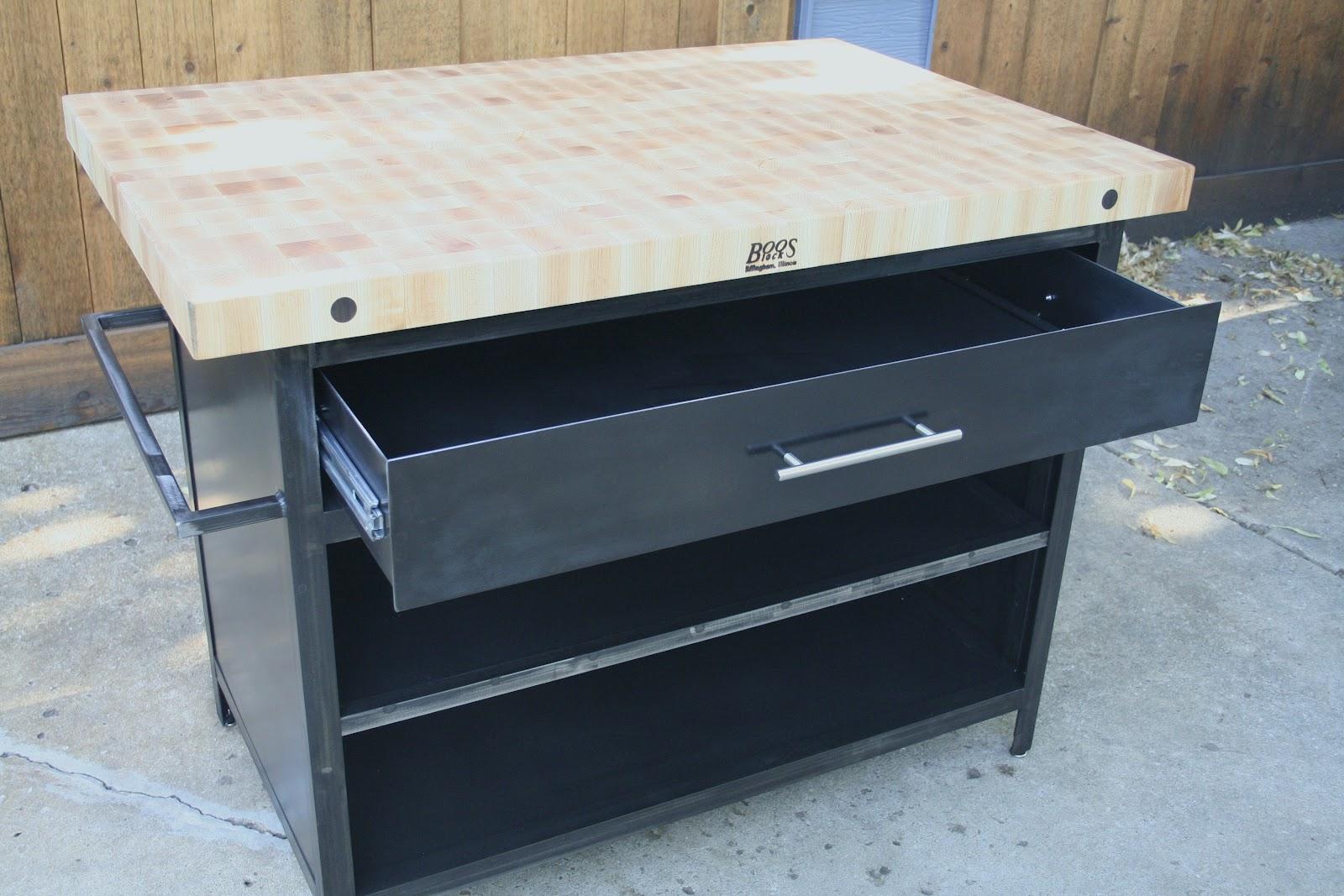 industrial kitchen island cabinet installation cost real edge furniture llc