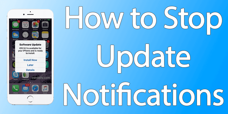 stop iphone update notification