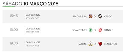 Assistir Jogos de hoje Premiere PFC - 10/03/2018 - Confira!