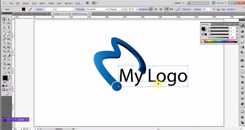 How to create text art basics in text tool from adobe for Open source adobe illustrator