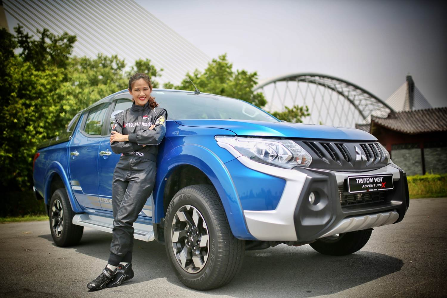 She first became more involved in mitsubishi motors after her famous sales girl drifts customers in pickup truck prank video which has more than 7 3