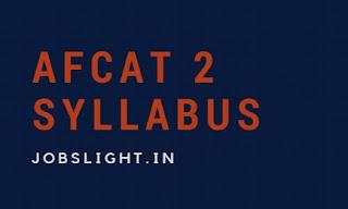 AFCAT 2 Syllabus